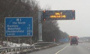 SALT SPREADING in Yorkshire