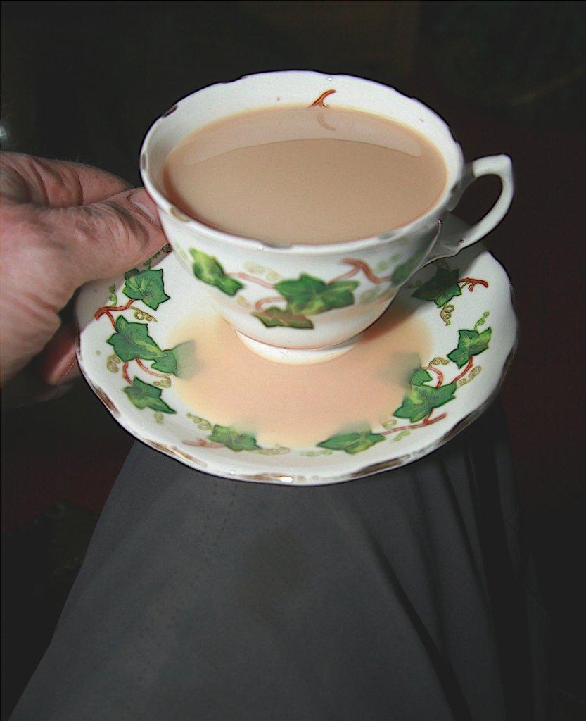Slopped tea