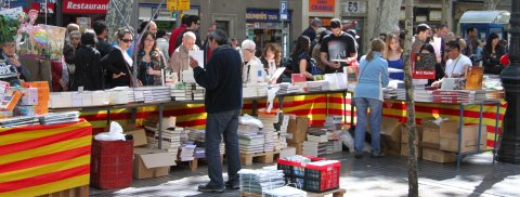 St. George's Day bookstall