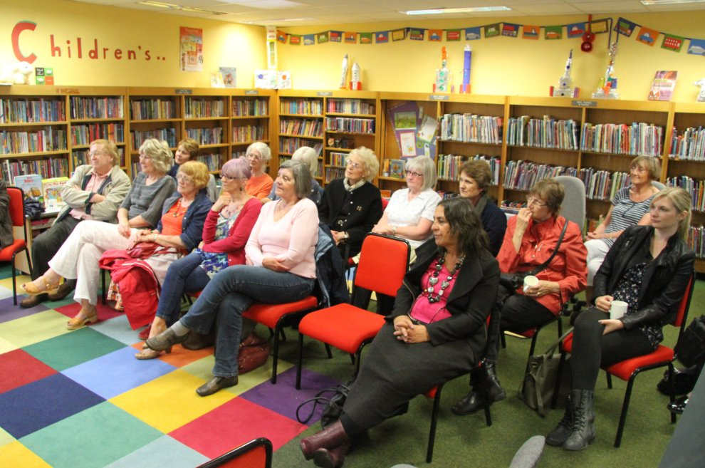 Part of the lovely audience at Bawtry Community Library