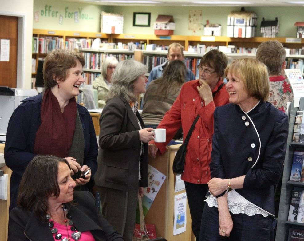 Elaine Aldred and Christina James at Bawtry Community Library
