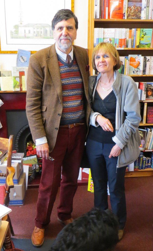 Richard Knowles and Christina James at Rickaro Books, Horbury