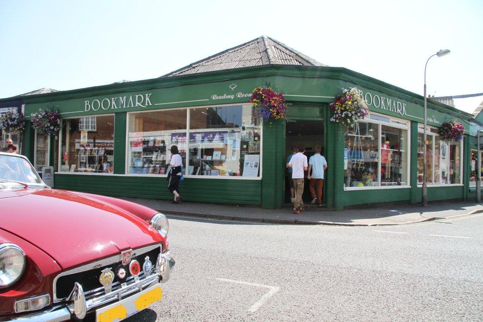 Fine car; finer bookshop