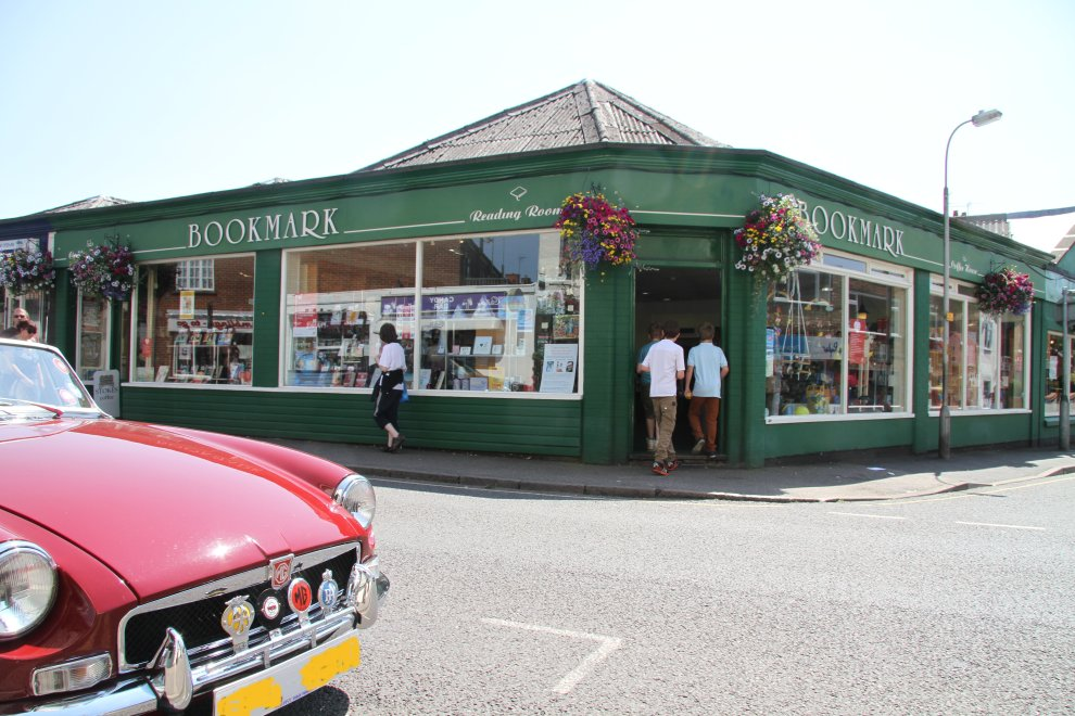 Fine car; finer bookshop
