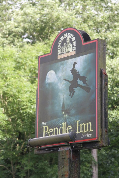 The Pendle Inn sign, Barley