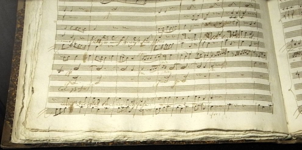 Mozart's score for 'Bastien and Bastienne'