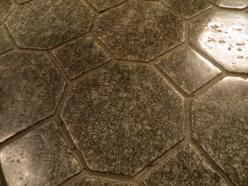 Solid salt floor 'tiles', Kinga Chapel