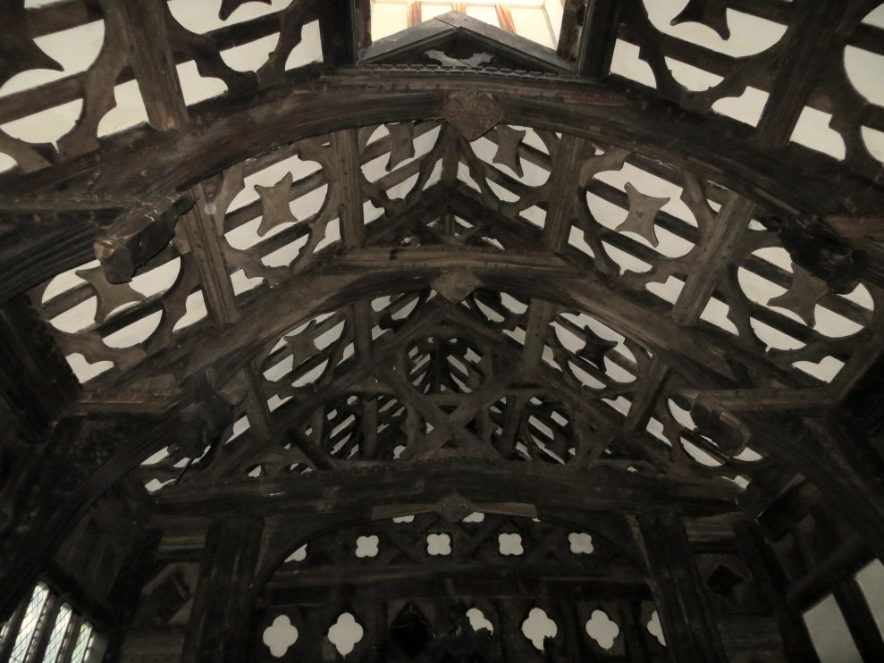 Rufford Old Hall - Great Hall roof timbers