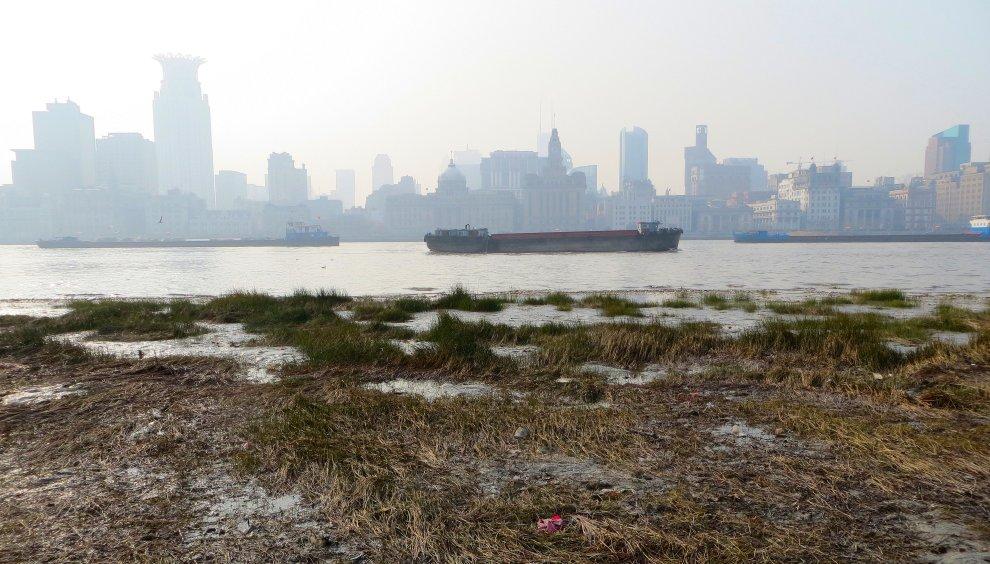Across the Huangpu from the Bund