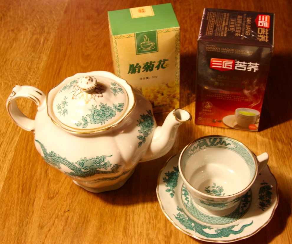 China tea at home...