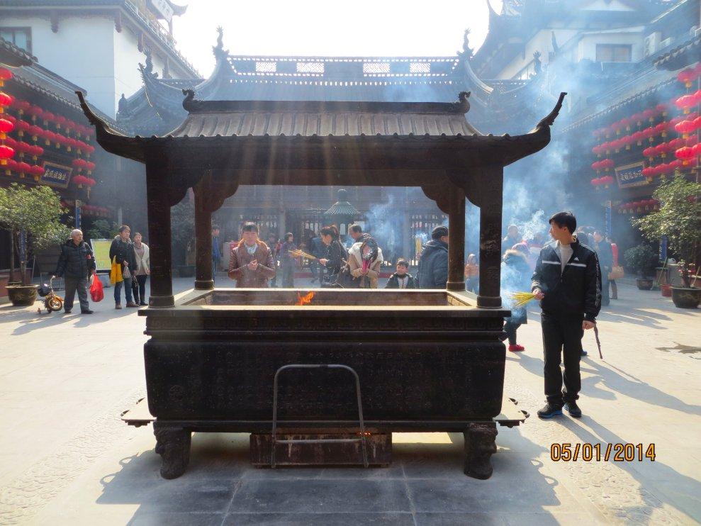 Temple courtyard in Yu Garden, Shanghai