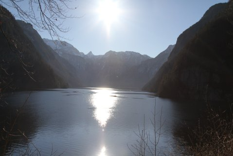 Königssee in winter sunshine