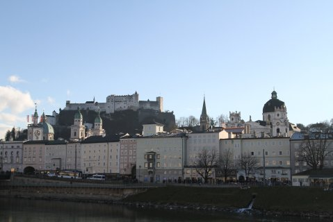 Salzburg skyline in December