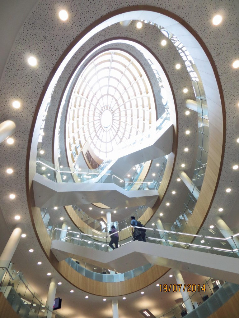 Liverpool Central Library, atrium and skylight dome