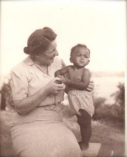 Catana with her German mother