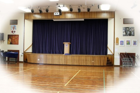 The hall, unchanged