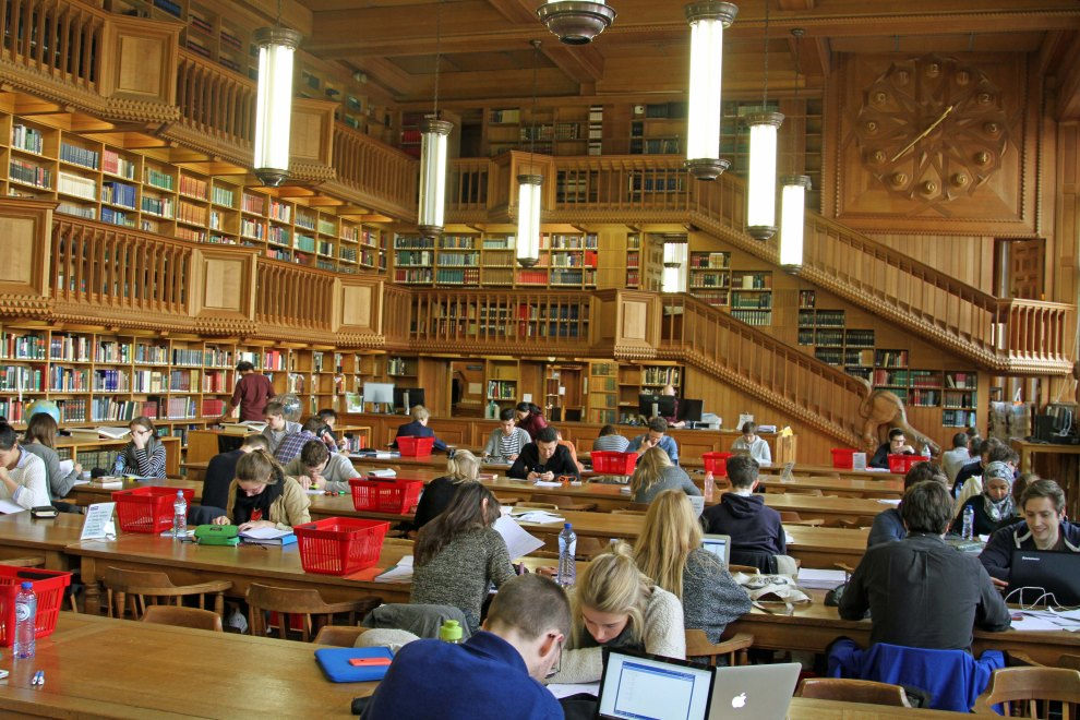 One half of the lovely library reading room