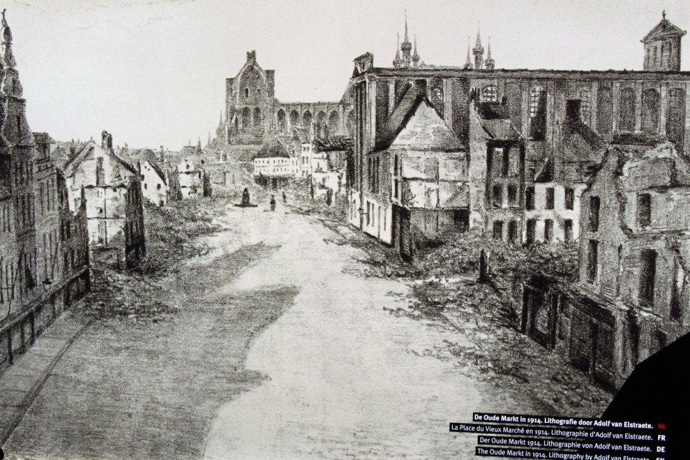 Oude Markt in 1914