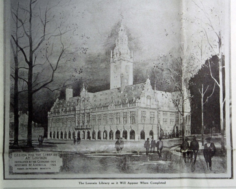 US architect vision of the new library post WWI.