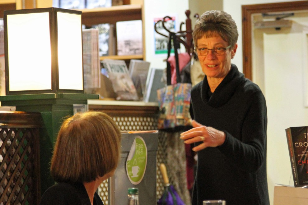 A warm welcome from Christine Hanson, owner of Bookmark