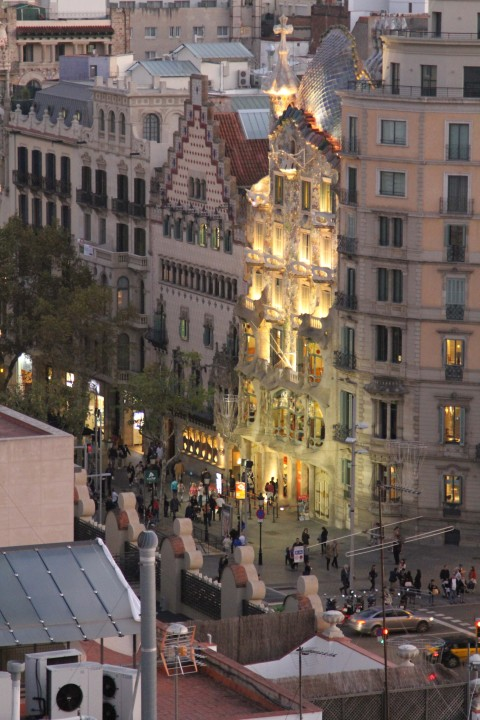 Casa Batlló from the Majestic Hotel