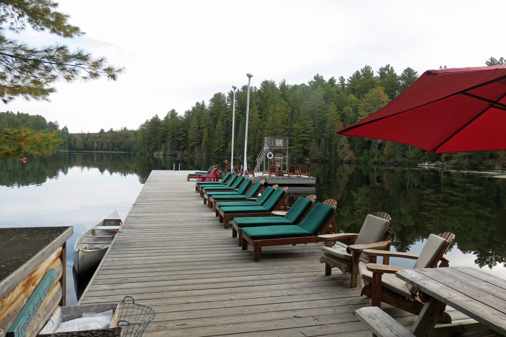 Arowhon Pines the dock